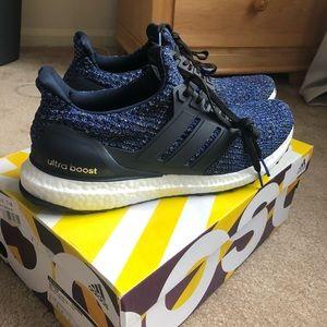 Women's Navy Blue Black Ultraboost Adidas Sz 9.5